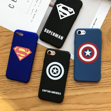 Marvel Avengers Captain America Shield Superhero Case For iPhone 6 6 Puls 6S Puls 7 8 Plus Hard PC Cover Ironman Comic capinhas(China)