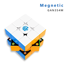 Gan 354 M V2 3x3x3 Magic Magnetic Cube with GES magnetico Professional GAN354M V2 3x3 Speed Cubo Magico Twist Educational Toys