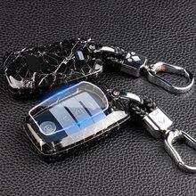 Карбоновый корпус для автомобильных ключей, чехол из АБС-пластика с мраморной текстурой для Kia Sportage Ceed Sorento Cerato Forte 2017 2018 2019