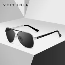 VEITHDIA Classic Brand Polarized Green Lens Mens Sunglasses