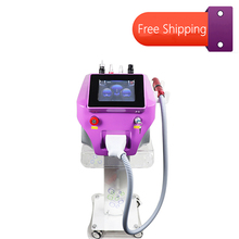 Portable Nd Yag Laser 532nm 755nm 1064nm 1320nm With Carbon Peeling Skin Whitening Picosecond Tattoo Removal Machine