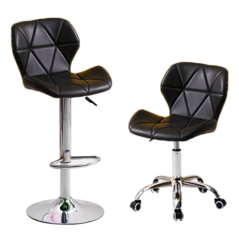 Minimalist High-footed Chair High Backrest Heightened Modern Single-person Bar Stool Coffee Shop Home Metal Bar Stool