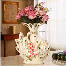 Керамическая ваза в форме Лебедя Европейском стиле домашний