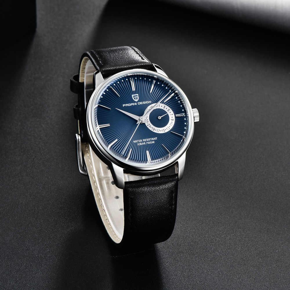 2020 جديد PAGANI تصميم الرجال الساعات العلامة التجارية الفاخرة ساعة كوارتز الرجال الجلود 100 متر مقاوم للماء العسكرية ساعة الرجال relojes hombre