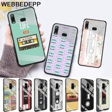retro classic cassette Design Glass Case for Samsung S7 Edge S8 S9 S10 Plus A10 A20 A30 A40 A50 A60 A70 Note 8 9 10