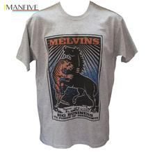 купить Melvins T Shirt Soundgarden Tool Lard Metal Punk Rock Graphic Band Unisex Tee Brand Clothing Men O-Neck Active Shorts T Shirt дешево