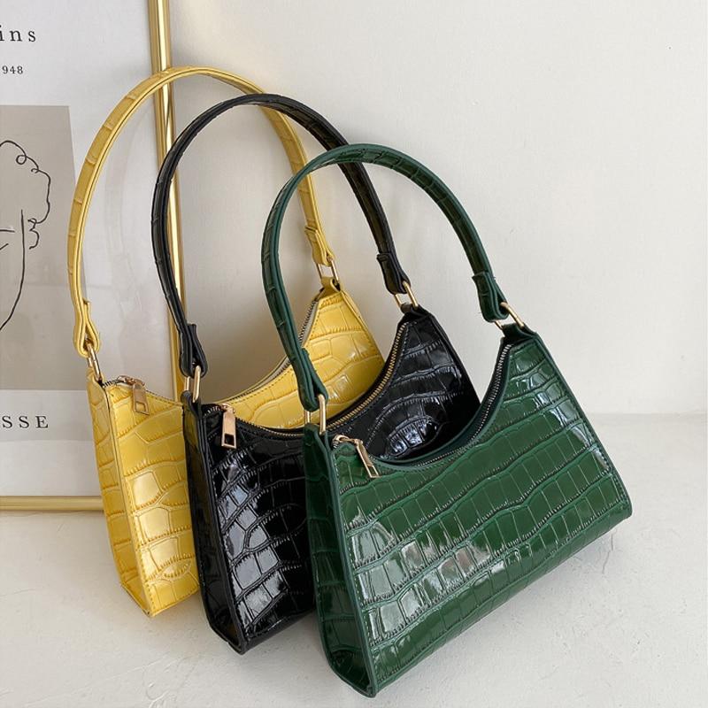 Повседневная сумка для покупок в стиле ретро, модные изысканные женские тоуты, сумки на плечо, женская кожаная однотонная сумка на цепочке д...