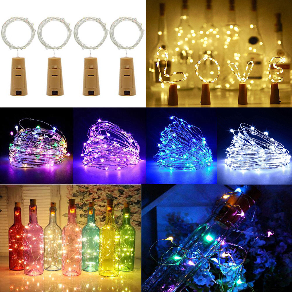1M 10 LEDS Wine Bottle Lights With Cork Battery Powered Garland DIY Christams String Lights For Party Wedding Decoration