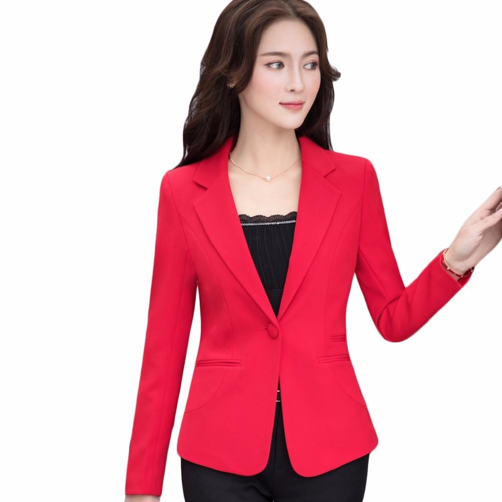 Female Elegant Formal Plus Size 4XL Coats Blazer Spring Summer Long Sleeve One Button Jacket Women Yellow Jackets Coats Clothing