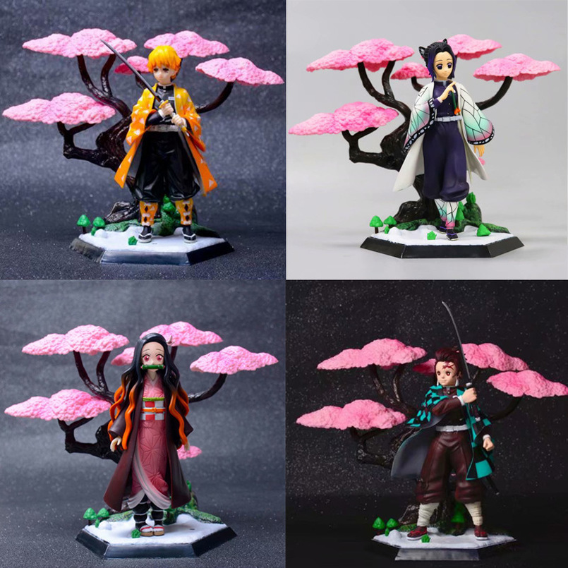 4 Types GK Demon Slayer Kimetsu No Yaiba Figure Tanjirou Kamado PVC Action Figure Nezuko Model Kids Birthday Toy Gift