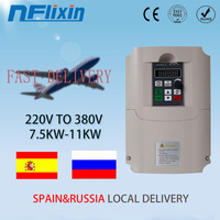 VFD 4KW 11KW 50hz to 60hz single phase 220v ac to 3 phase 380v ac frequency converter inverter for motor speed control