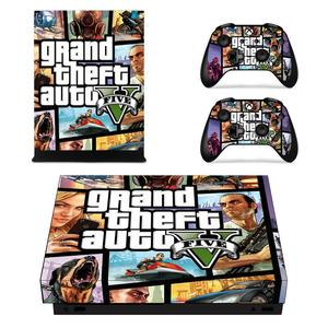 Image 5 - Grand Theft Auto V GTA 5 Game Cover Skin Console & Controller Decal Stickers for Xbox One X Skin Stickers Vinyl