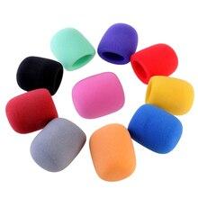 10 цветов ручной сценический микрофон мягкая пена микрофон Windshileds Ветрозащита для микрофона чехлы