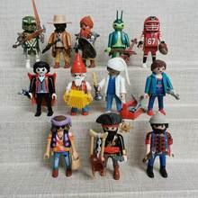 Alta qualidade meninos e meninas playmobils piratas cavaleiro meninas e menino polly bolso bloco de construção brinquedos educativos