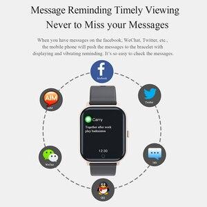 Image 4 - Reloj inteligente deportivo MKS5, resistente al agua, con Bluetooth, control del ritmo cardíaco, llamadas/mensajes y recordatorios para Android iOS