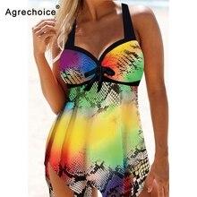 Printed Tankini Swimsuits Women Plus Size Swimwear 2020 Push Up Swimsuit Vintage Retro Bathing Suit Beachwear Swimming Suit 3XL