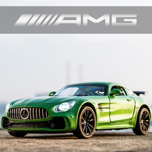 1/32 Car Models AMG GT R Diecasts Toys for Boys Adults Metal Collection Mockup Cars Vehicles Gift Kids Souvenir Friend Client(China)