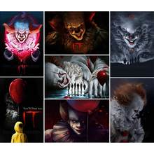 "5D DIY Diamond Painting ""IT Film Chapter Joker"" Full Drill diamond Embroidery Cross Stitch Mosaic Home Decoration Halloween gift(China)"