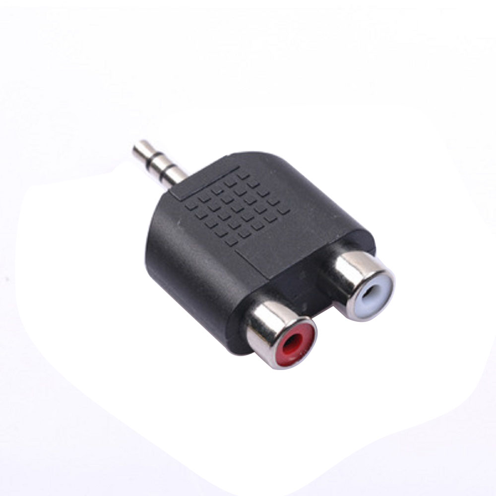 Audio Adapter RCA Y Splitter Connector 3.5mm Audio Cable RCA Audio Adapter Jack Male To 2 RCA Female Adapter M / F RCA Splitter