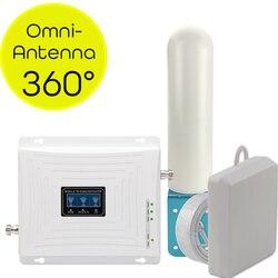 4g sinal impulsionador gsm 2g 3g 4g amplificador de sinal celular repetidor do telefone móvel 4g internet amplificador omni direcional antena