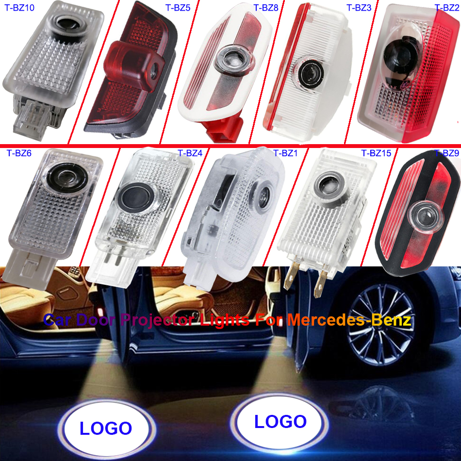 LED W212 W221 W245 W204 Welcome Light W164 W176 W168 W169 R171 GLA Car Door Projector Logo Auto Luces Para For Mercedes Benz AMG
