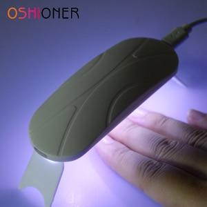 Oshioner 6W Wit Mini Nail Dryer Machine UV3 Leds Lamp Draagbare Usb Kabel Thuisgebruik Nail Uv Gel Lak droger Lamp Nail Art Tool(China)