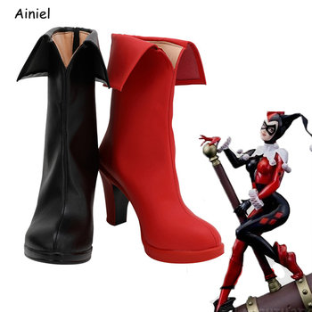 Ainiel 2020 Birds of Prey Suicide Squad Coaplay Shoes Harley Quinn Boots Women Girls Customized Halloween Props