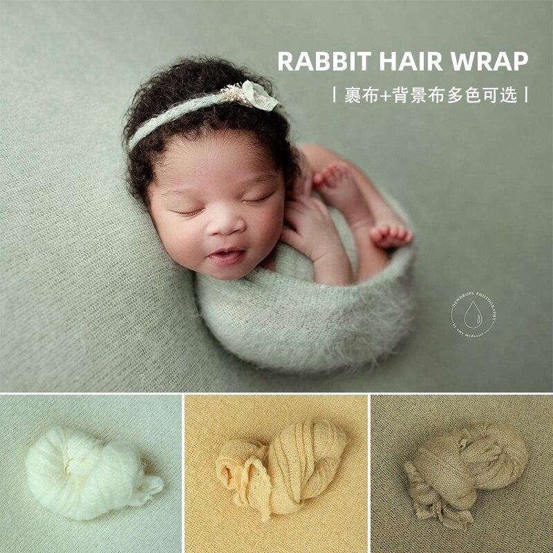 Plush Rabbit Hair Wrapped Cloth Children's Studio Baby Full Moon Background Cloth Newborn Photography Props