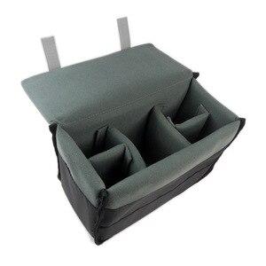 Image 5 - Wodoodporna, odporna na wstrząsy torba na aparat wyściełana wkładka SLR torba sakiewka partycji dla lustrzanek Canon Nikon Sony obiektyw aparatu