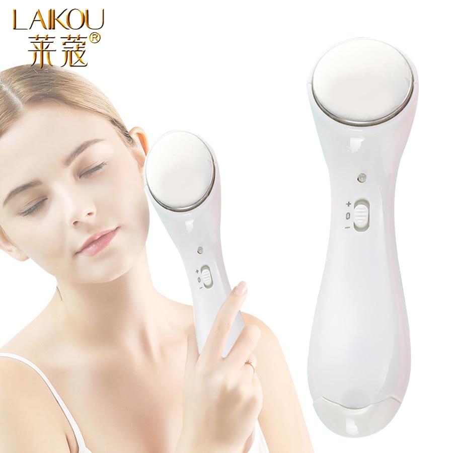 LAIKOU High Quality Electric Lontophoresis Beauty Instrument Ultrasound Anti-aging Machine Face Lift Facial Beauty Massager Tool