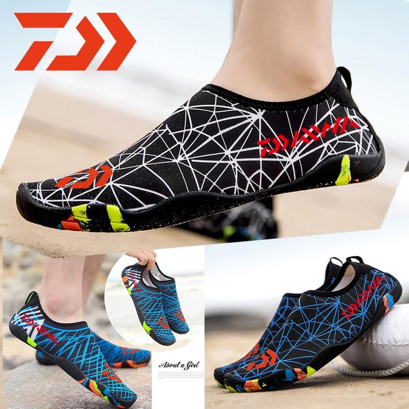 2019 New Dawa Fishing Shoes Men Beach Outdoor Wading Shoes Swimming Slipper On Surf Woman Quick-Drying Daiwa Fishing Water Shoes
