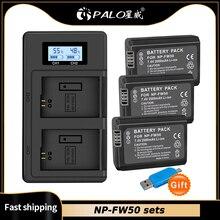 פאלו 2000mAh NP FW50 np fw50 סוללה akku + LED כפולה USB מטען עבור Sony a37 אלפא 7 7R השני 7S a7S a7R השני a5000 NEX 7 DSC RX10