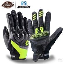 Masontex Carbon Faser Moto rcycle Handschuhe Touchscreen guantes moto Volle Finger Handschuhe Moto Moto kreuz Handschuh für 4 Saison