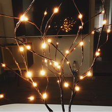 LED Willow Branch Lamp Floral Lights 20 Bulbs Home Christmas Party Garden Decoration For Living Room 3.3(China)