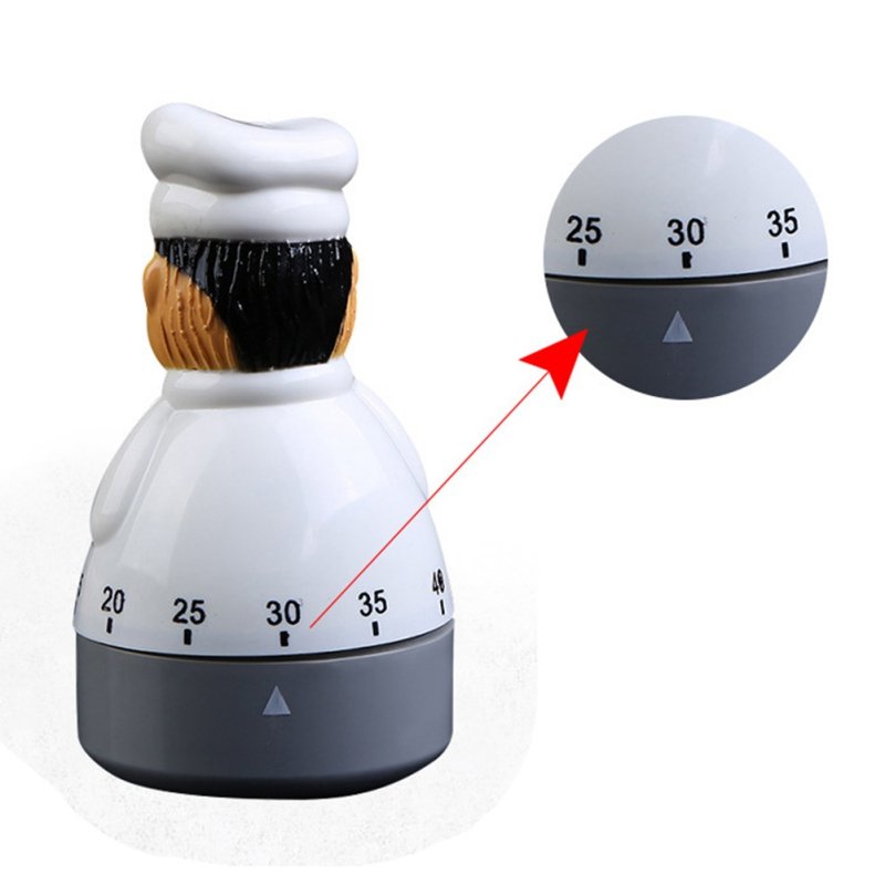 New 1pc kitchen Chef timer Dial alarm clock electronic clock kitchen timer assistant home baking tools in Kitchen Timers from Home Garden