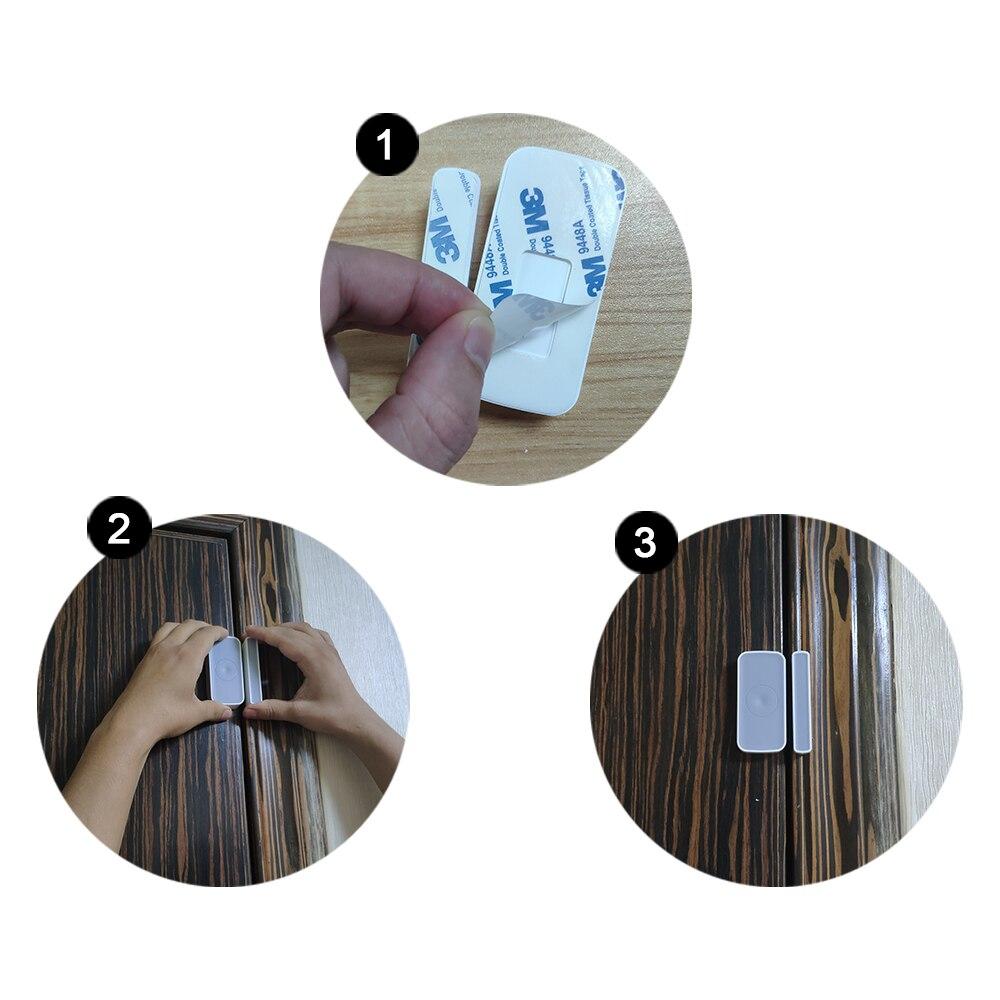 Купить с кэшбэком HEIMAN Z-wave Door Window Zwave sensor Magnet Detector alarm Wireless For Z wave home  EU868MHz