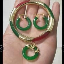 Стиль! Смешанный камень серьги кулон ожерелье браслет