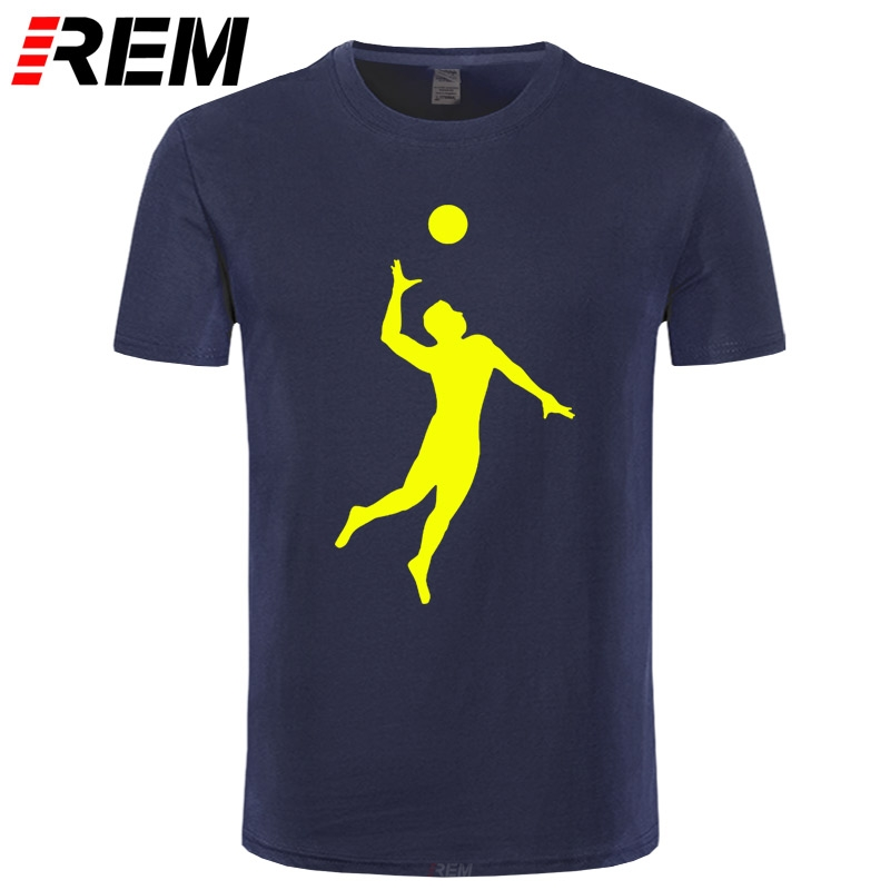 REM New Funny Style Evolution of Volleyballs T Shirt men Custom Pattern cotton Short Sleeve man Good at Volley Ball T-shirt