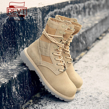 REVT 2020 new style womens  Genuine Leather fashion Martin boots  Frosted cowhide Motorcycle Boots womens shoes