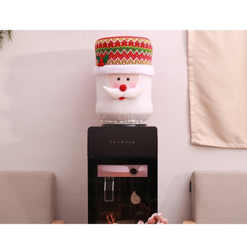 Рождественский пылезащитный чехол воды емкостный диспенсер контейнер очиститель бутылки Рождественское украшение для дома милый пылезащитный чехол 3D узор