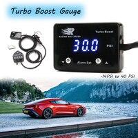 Turbo Boost Gauge  14PSI to 40 PSI 12V Vacuum Gauge PSI TBM Boost Meter Blue LED Digital Display Boost Gauge PSI Kit with Sensor