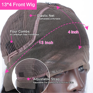 Image 5 - Rosabeauty 28 30 אינץ 13x4 תחרה מול שיער טבעי פאות 180 צפיפות ברזילאי גוף גל פרונטאלית פאה שחור נשים מראש קטף