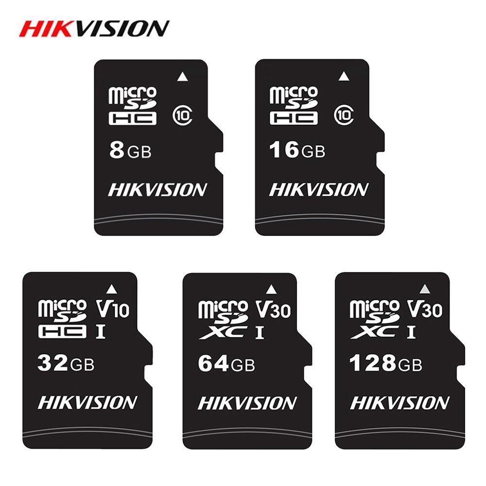 Hikvision Micro SD Card 32GB 64GB 128GB 16GB Memory Card Microsd Card Class 10 C10 Micro SD Card TF Card for Phone Tablet