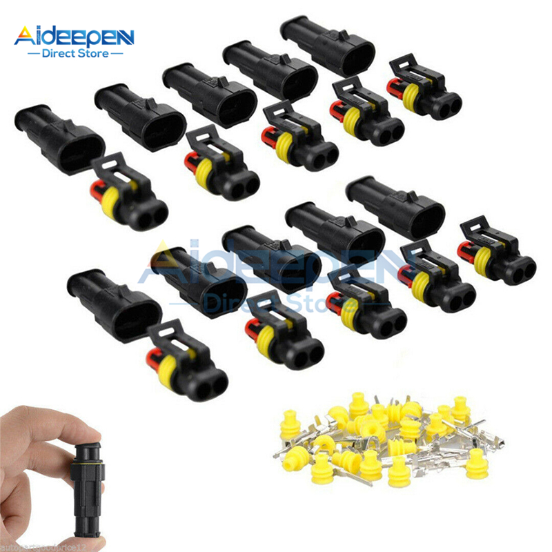 1Set 1/2/3/4/5/6 Pins AMP 1.5 Super Seal Waterproof Electrical Wire Connector Plug For Car Waterproof Connector