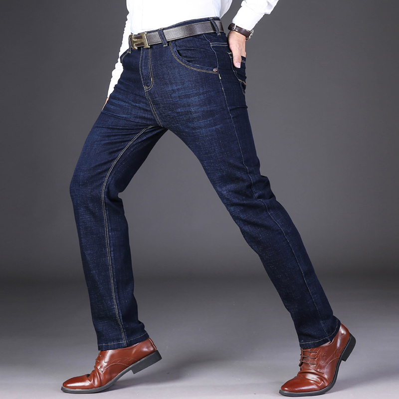 Autumn winter Mid Weight Men Casual Biker Denim Jeans Men's Jeans