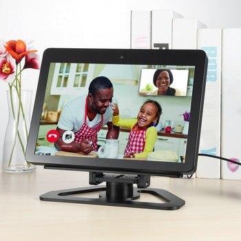 Speaker Stand per Echo Mostra 2nd Generation per Amazon Echo Mostra 2nd Altoparlante Intelligente Orizzontale 360 di Rotazione di Inclinazione Del Basamento