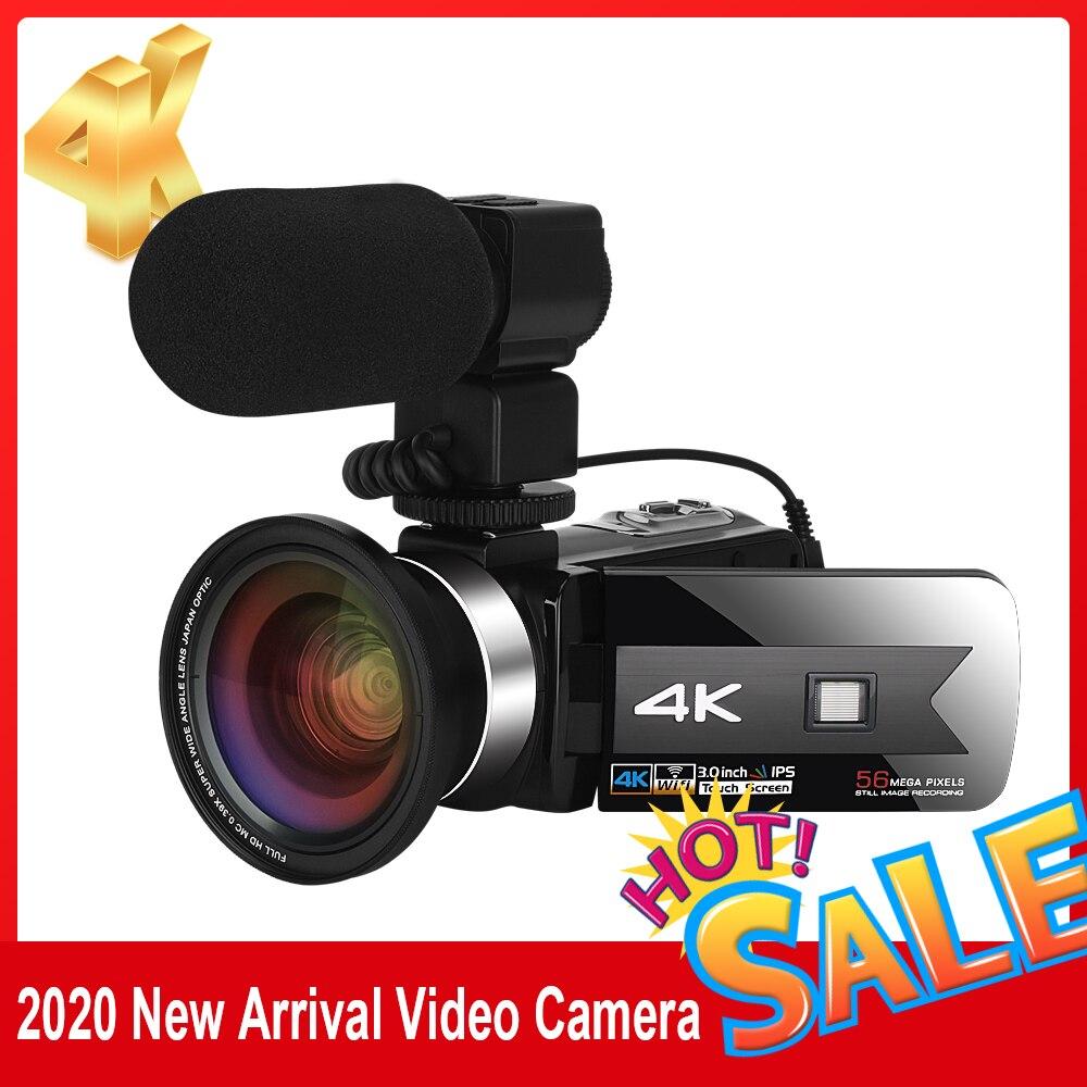 Новый продукт Цифровая видеокамера для Youtube 4K 56MP сенсорный Экран wecamбыл Ночное видение HD Регистраторы Wi-Fi Встроенный заполнить светильник