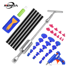 NENFIX Tools Car Paintless Dent Removal Tool Kit Dent Repair Puller Kit Slide Reverse Hammer Glue Tabs Suction Cups For Hail Kit