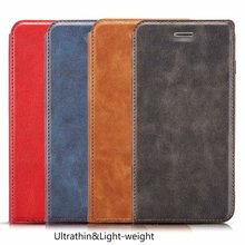 Contracted and Restoring Ancient Ultrathin Leather Wallet PU Phone Case For Samsung S20 S10 Note10 S9 Note9 S8 Note8 S7