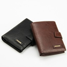 Vintage Men Wallet Genuine Leather Clutch Male Coin Purse Passport Cover Business Cow Leather Wallet Mens Case Card Holder W207